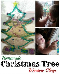 One ingredient, Christmas Tree Window Clings. So much fun for the kids! Great fine motor practice too!