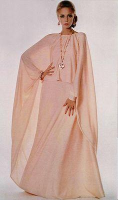 Pink seventies maxi dress