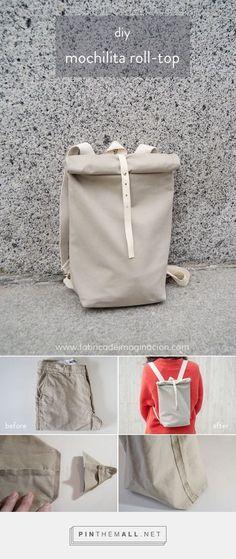 Recycled Pants: DIY Mochilita roll-top   Fábrica de Imaginación DIY   Backpack roll-top