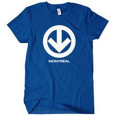 Montreal Metro Women's T-shirt - S M L XL 2XL - Black, Blue or White. $20.00, via Etsy.