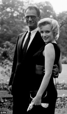 Marilyn Monroe, Hollywood actress and playwright husband Arthur Miller