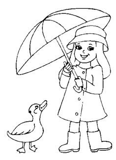Ready For Rain Coloring Sheet