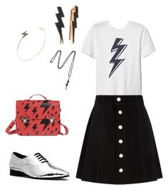 """Lightning bolt"" by cassie-poulsen ❤ liked on Polyvore featuring Michael Kors, AG Adriano Goldschmied, La Cartella, Bee Goddess, Vitaly and Shay"