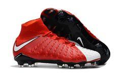 new style 66bc5 7d3f6 Nike Hypervenom Phantom III DF FG Soccer Shoes White Red on  www.evensoccer.com