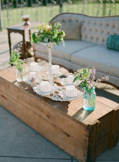 #vintage vignettes | Photography: Gabe Aceves - gabeaceves.com, Florals by http://www.singingfrogfarm.com, Vintage Decor by https://bellavillashop.shutterfly.com/  Read More: http://stylemepretty.com/2013/10/22/virginia-wine-country-wedding-from-gabe-aceves/