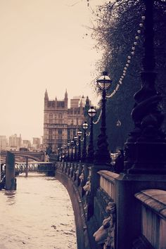 Lamp Posts along the Thames, London