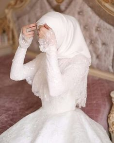 Muslimah Wedding Dress, Muslim Wedding Dresses, Pretty Wedding Dresses, Boho Wedding Dress, Bridal Dresses, Mermaid Wedding, Fairytale Bridal, Bridal Hijab, Wedding Dress With Pockets