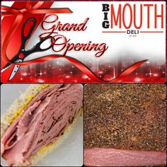 Our is on Monday Open your Montreal Smoked Meat Sandwich, Homemade Soup, Smoking Meat, Grand Opening, Soup And Salad, Deli, Sandwiches, December, Food