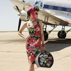 The Calypso Bodice & Skirt #pencilskirt #bodice #tropical #vintage