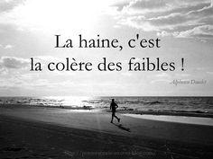"""Alphonse Daudet  """"La haine, c'est la colère des faibles !"""" Alphonse Daudet"""