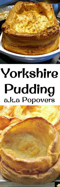 Yorkshire Pudding, a. popovers are so delicious! Serve as part of a main meal with lots of gravy, or as an appetizer and fill them with goodies. You can also serve these as a dessert, adding some nice fruits or pie filling and ice cream! You decide. Easy Dinner Recipes, Holiday Recipes, Yorkshire Pudding Recipes, Great British Food, Gula, Mini Muffins, Main Meals, Cooking Recipes, Lamb Recipes