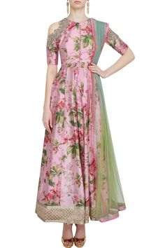 Favorite: Pink floral anarkali by Anushree Reddy