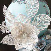 images cakes with edible lace - Google Search