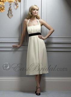 simple and elegant halter bridesmaid dresses bm0008 - bridesmaid dresses