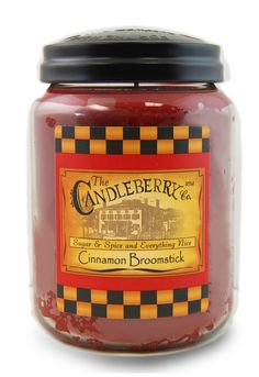 Cinnamon Broomstick 26 oz. Large Jar Candleberry Candle