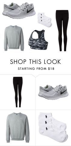 """Let's workout 2"" by theresewiese on Polyvore featuring NIKE, Lauren Ralph Lauren, workout and theresewiese"