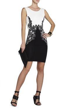 BCBG Max Azria  Jenn Lace Jacquard Dress