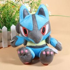 Cute 6 Inch Pokemon Lucario Soft Plush Toy    definitely want!!! only 6.90I NEED THIS