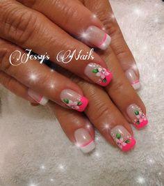 #nail #nails #nailart #uñas #flores #flowers #delicadas #bonitas #desing2016 #uñasdecoradasflores #jessynails