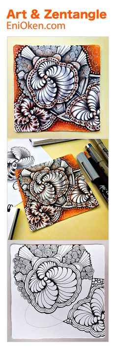 Learn how to create amazing Zentangle®️ shading • enioken.com