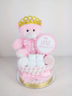 Nappy Cakes by Emma - Pink and Gold Little Princess Nappy Cake, Brisbane Sydney Baby Gifts Baby Shower Nappy Cake, Baby Shower Bouquet, Baby Nappy Cakes, Regalo Baby Shower, Diaper Cake Boy, Baby Girl Cakes, Baby Shower Cakes For Boys, Baby Shower Gift Basket, Baby Shower Niño