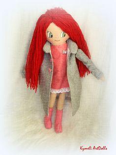 Πορφυρένια -Porfyrenia Doll for Play - by Kymeli Soft Dolls, Doll Clothes, Disney Characters, Fictional Characters, Play, Christmas Ornaments, Disney Princess, Holiday Decor, Handmade