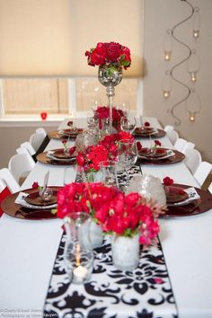 Damask and red