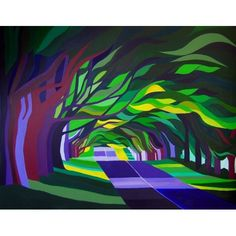Beech Avenue in Summer by Chris Wilmshurst @ Mini Gallery - Acrylic Painting