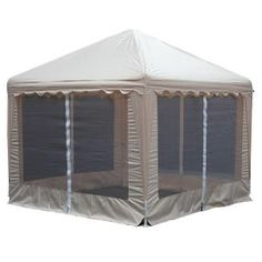 King Canopy, Garden Party 10 ft. W x 10 ft. D Almond Gazebo, GP1010A at The Home Depot - Mobile