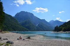 Lago di Predil - on the Slovenian-Italian border Places To Visit, Italy, Mountains, Park, Beach, Water, Outdoor, Traveling, Bucket