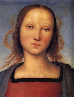 Perugino, Madonna con Bambino, 1494 (detail)