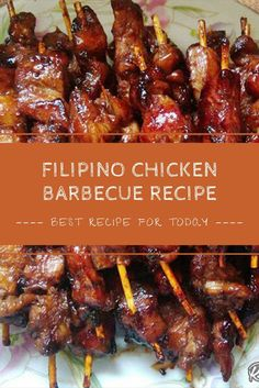 Filipino Chicken Barbecue Recipe this Chicken Barbecue Recipe (Chicken BBQ) is a Filipino version which is on the sweeter side as compare. Filipino Chicken Barbecue Recipe, Easy Filipino Recipes, Barbecue Chicken, Barbecue Recipes, Grilling Recipes, Asian Recipes, Cooking Recipes, Ethnic Recipes, Filipino Bbq