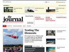 """A neat online newspaper design perfect for web publishers. The Journal places special emphasis on its neat typography and clean grid structure, and not template imagery, making customizing this theme a breeze and showcasing post content and its imagery top priority. With a neat tag based """"Highlights"""" section and a recent posts carousel the home page is completely adaptable to your content."""