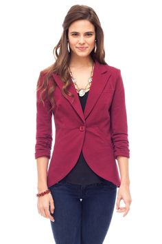 Kate Blazer.  Love the color and shape!