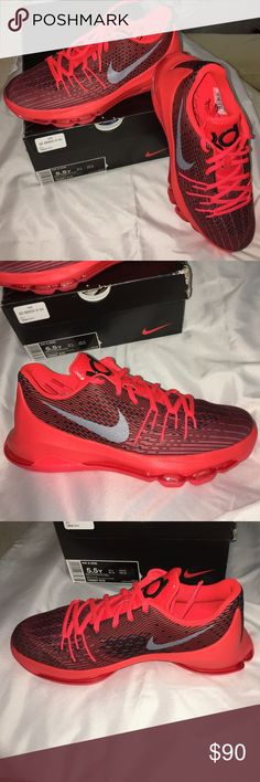 KD8 (Kevin Durant) Nike Sneaker Brand New with box Brand New with box! Size 5.5Y or 7-8 in Women's. The shoes measure 24cm for reference. Cute color and style! Comes with box. Nike Shoes Athletic Shoes