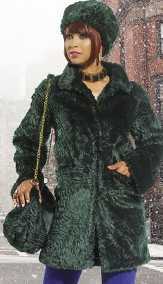 DON14201 - $229  #Green #Warm #Coat #Trench #Soft