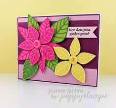 Bright Blooms,  #poppy, #poppystamps, #card, #lush, #luxe, #floral, #die, #poinsettia
