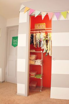 PAINT THE INSIDE OF AJ'S CLOSET....Maybe turquoise?
