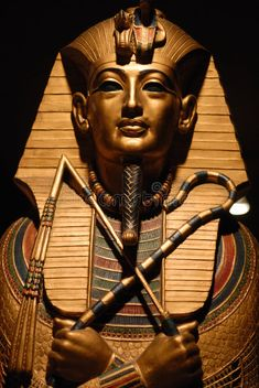 Photo about Ancient Egyptian statue on the black background. Image of ancient, egypt, pharaoh - 3748383 Ancient Egyptian Statues, Ancient Egypt Pharaohs, Ancient Egypt Art, Egyptian Symbols, Egyptian Art, Greek Statues, Egyptian Mythology, Egyptian Goddess, Ancient Aliens
