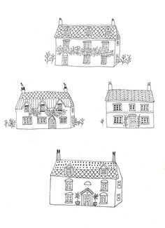 Illustrations for new country style colouring book by Ryn Frank