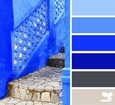 Brilliant Blues - http://design-seeds.com/index.php/home/entry/brilliant-blues