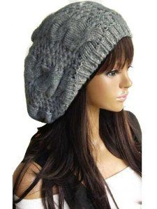 b10cbf456fb New Winter fashion Women Beret Braided Baggy Beanie Crochet Knitted Hat Cap