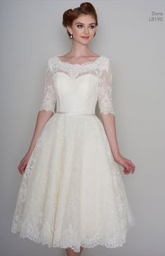 At Cutting Edge Brides we love a sweetheart neckline on short wedding dresses. We have lots of different styles for you to choose from. So below are three different sweetheart necklines on short wedding dresses Tea Length Wedding Dress, Tea Length Dresses, Wedding Dress Sleeves, Lace Dress, Short Dresses, Dresses With Sleeves, Dot Dress, Short Sleeves, Wedding Dresses For Sale