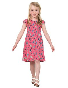 55c82a2b8 Frugi Girls Emily Dress, Raspberry Daisy Dogs - Dandy Lions Boutique  #girlsdress #sale