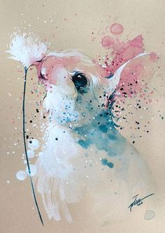 Bunny #2 • watercolor with gouache painting • A3 • art print