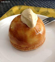 Dôme tarte tatin selon C. Michalak #sansoeuf