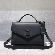 b9f2a51714e1 Louis Vuitton Calfskin My Lockme Bag M54849 Noir 2017 Louis Vuitton 2017
