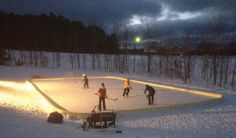 An Easier-Than-You-Think Guide To Building Backyard Ice Rinks Skating Rink, Figure Skating, Backyard Ice Rink, Outdoor Rink, Hockey Room, Backyard Buildings, Winter Project, Ice Ice Baby, Felder