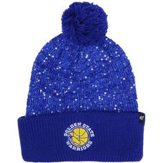 3db126c489deb  47 Brand Women s Golden State Warriors Hardwood Classics Glint Knit...  (€26) ❤ liked on Polyvore featuring accessories