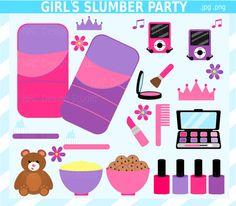 Girl Slumber Party Clip Art  Sleepover Clip Art by NRCDesignStudio, $3.00